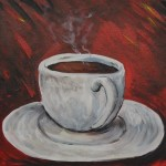 coffee cup, tea cup, paint, wine, class, painting