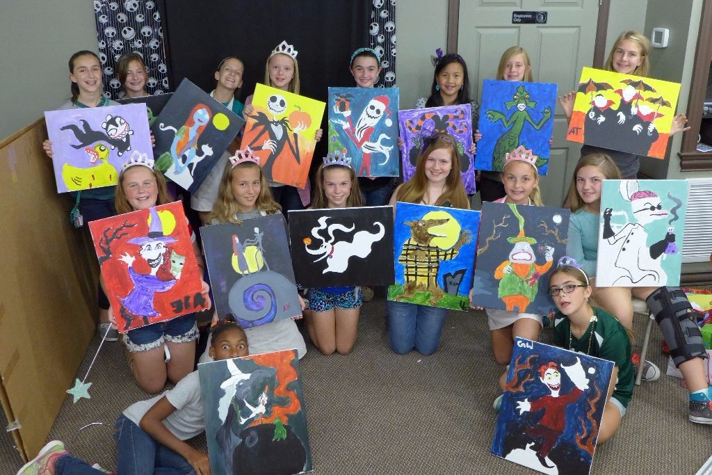Kids create it for Kids paint party